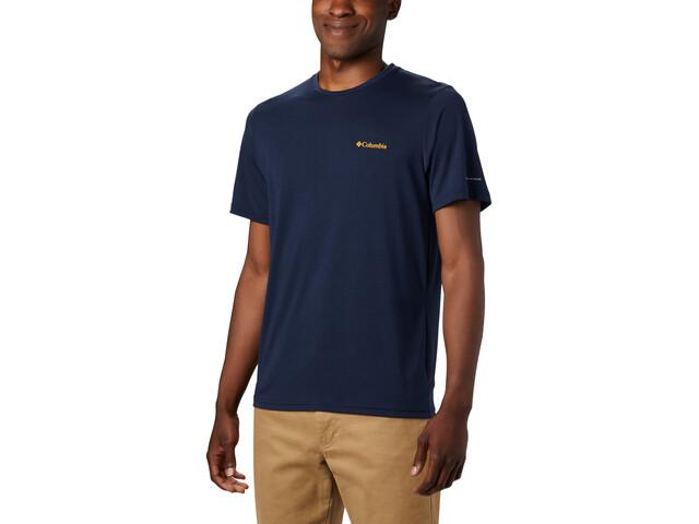 Columbia Maxtrail Logo Lyhythihainen T-paita Miehet, collegiate navy